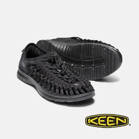KEEN 男 UNEEK O2  全包覆涼鞋(黑)