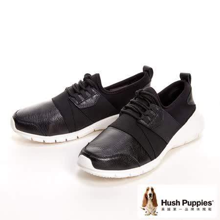 Hush Puppies CYPRESS 輕量綁帶式運動型健走鞋 女鞋-黑