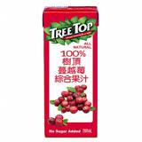 樹頂100%蔓越莓綜合果汁 利樂包 200ML