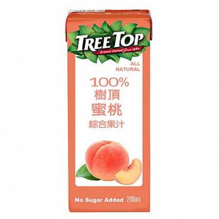樹頂100%蜜桃綜合果汁200ML(利樂包)