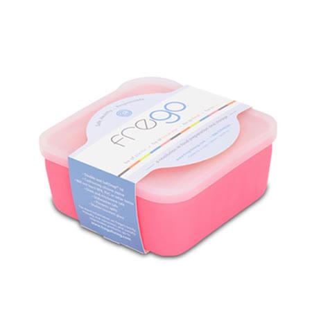 美國FREGO矽膠護套 環保玻璃保鮮盒(甜蜜粉)-0.5L