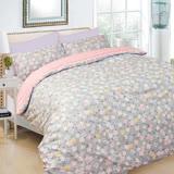 【I-JIA Bedding】H210 三分春色-純棉床包兩用被組三件組-單人
