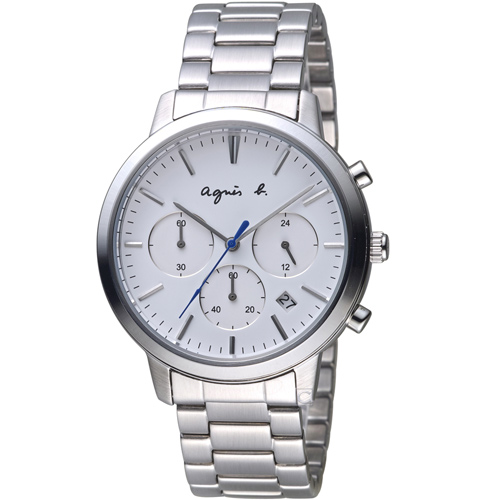 agnes b. 俐落簡約計時腕錶 VD53-KJC0S BT3035X1