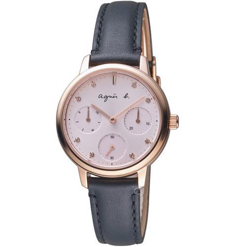 agnes b. 粉戀佳人時尚腕錶  VD75-KPZ0U BP6021X1