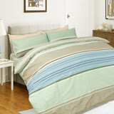 【I-JIA Bedding】H205 抹茶拿鐵-純棉床包兩用被組三件組-單人