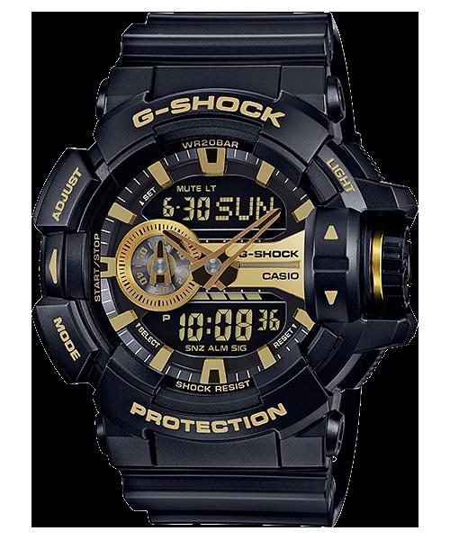 G-SHOCK 系列 超人氣款_潮流酷炫_多色雙顯男錶 GA-400GB-1ADR