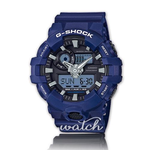 CASIO 卡西歐 G-SHOCK 系列 型男首選 絕對強悍 礦物玻璃鏡面 防水 LED燈 雙顯男錶 GA-700-2A