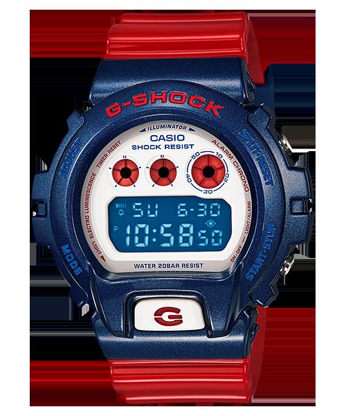 G-SHOCK 系列 美國隊長/鋼鐵人經典款 DW-6900AC-2DR