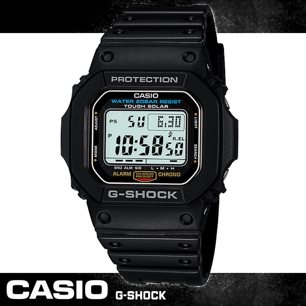 G-SHOCK 太陽能電力_耐衝擊構造_運動錶 G-5600E-1DR