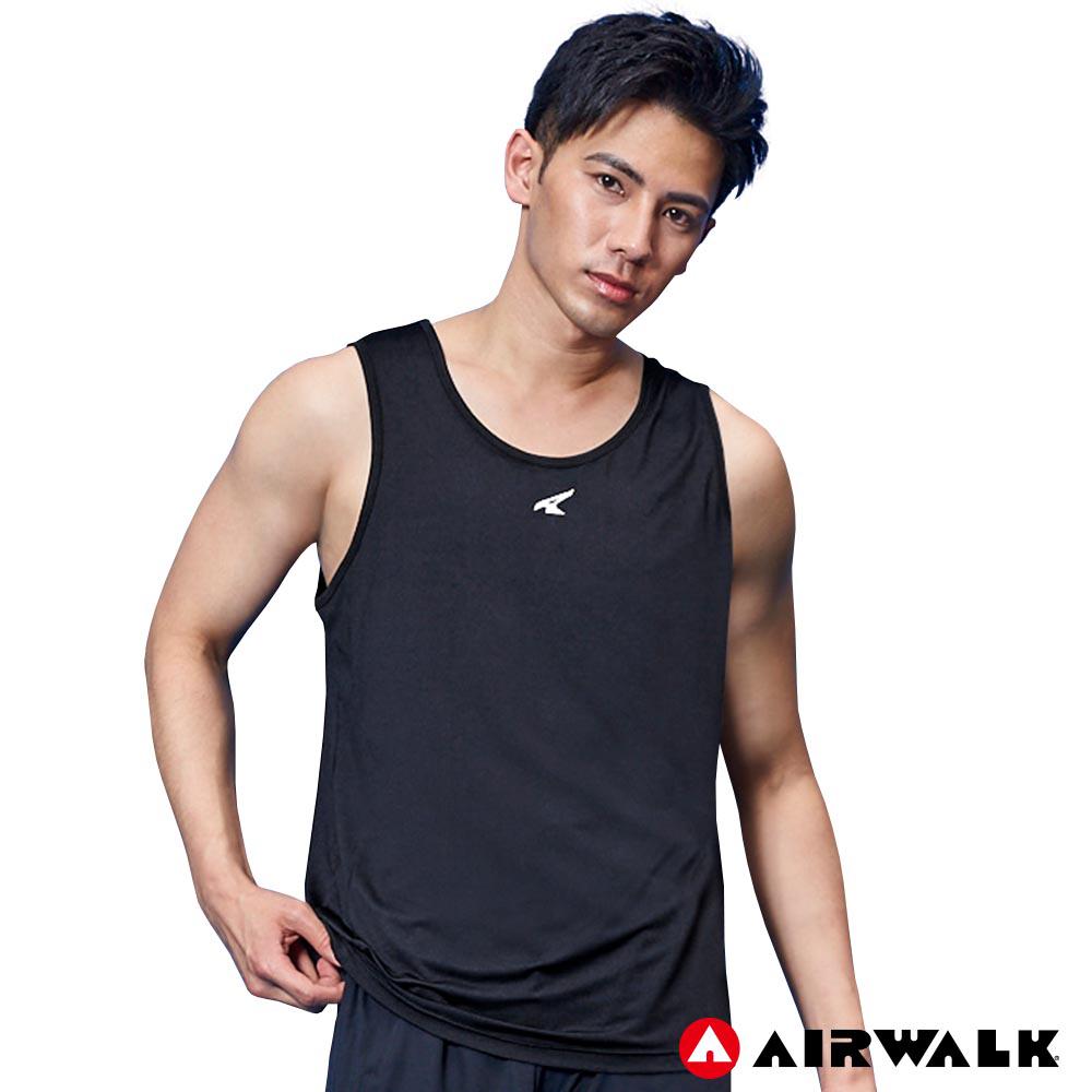 AIRWALK - 男款拼接背心 - 黑色