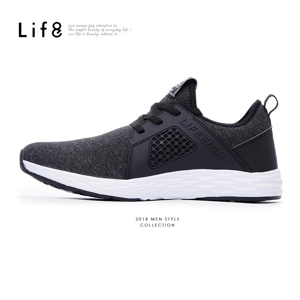 【Life8】Sport 超輕量 高彈力布 疾風運動鞋-09864-黑色