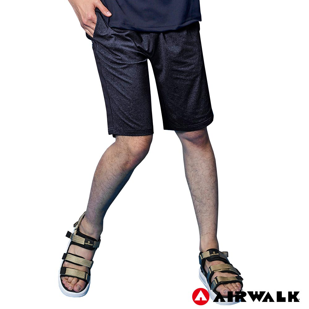 【AIRWALK】男款休閒短褲 - 黑色