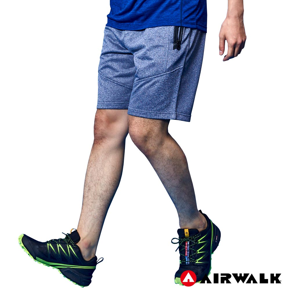 【AIRWALK】男款休閒短褲 - 麻藍
