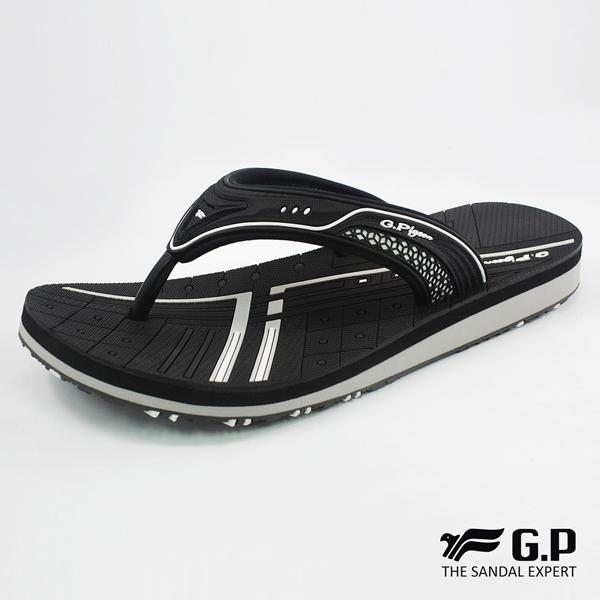 【G.P 女款親子系列緩震夾腳拖鞋】G8509BW-黑色(SIZE:33-39 共三色)
