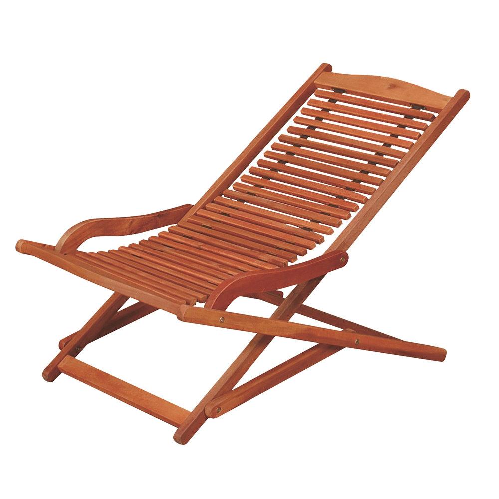 【空間生活】家具-夏至品特實木休閒躺椅/涼椅/實木休閒椅