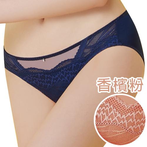【思薇爾】啵時尚系列M-XXL蕾絲中低腰三角內褲(香檳粉)