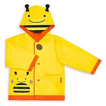 SKIP HOP 可愛動物園兒童雨衣-小蜜蜂