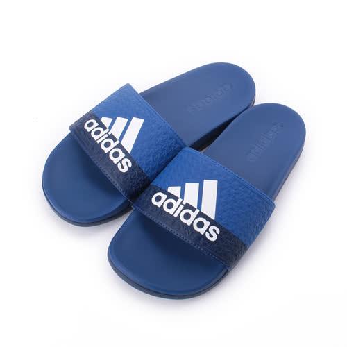 ADIDAS ADILETTE COMFORT K Q彈套式拖鞋 藍 B43529 童鞋 鞋全家福