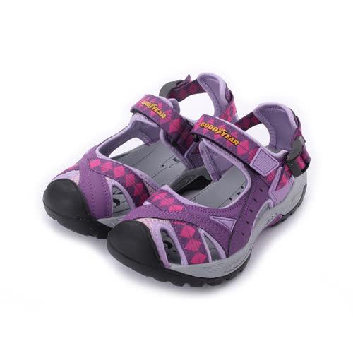 GOODYEAR 護趾魔鬼氈涼鞋 紫 GAWS82707 女鞋 鞋全家福