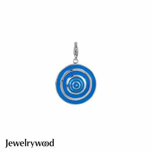 Jewelrywood 藍白波浪淑女遮陽帽吊墜