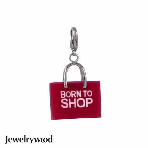 Jewelrywood NAME BORN TO SHOP 旅行購物袋吊墜