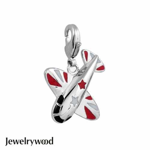 Jewelrywood 彩色渡假小飛機吊墜
