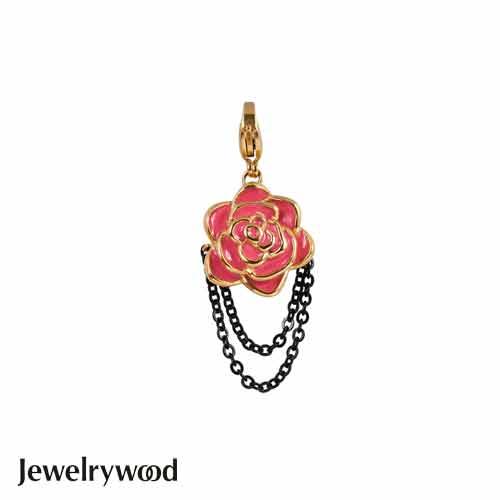 Jewelrywood 紅薔薇與鎖鍊吊墜