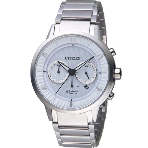 CITIZEN 星辰 關鍵時機Eco-Drive鈦金屬腕錶 CA4400-88A