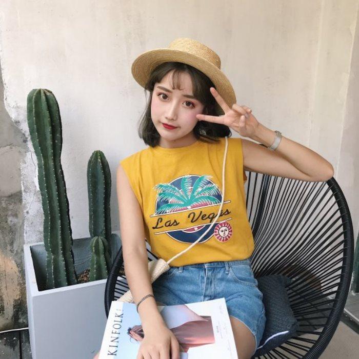 TS0009 韓版簡潔運動款無袖背心-預購+現貨【CosmoPINK 粉紅教主】