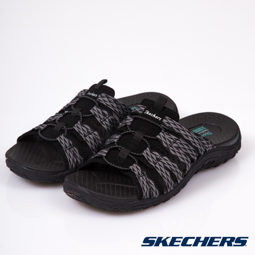 SKECHERS (女) 時尚休閒系列 REGGAE 涼鞋 - 41023BLK