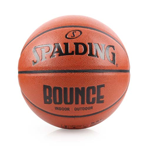 SPALDING BOUNCE 籃球-PU-7號球 訓練 斯伯丁 室內球 室外球 咖啡黑 F