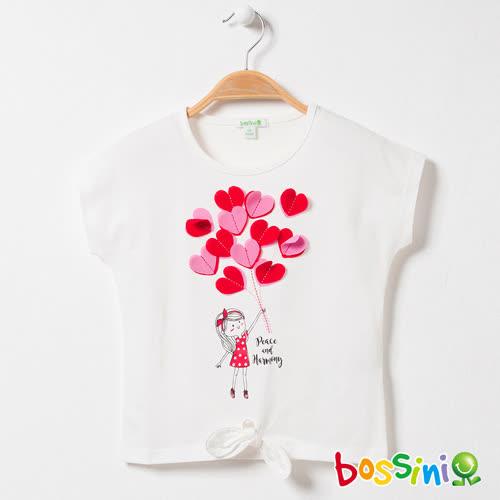 bossini女童-圓領短袖上衣09珍珠白(品特)