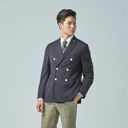 【CREMIEUX】雙排扣西裝外套 (深藍)