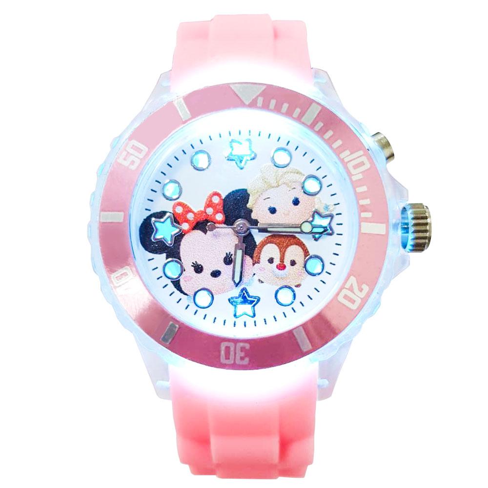 【迪士尼】tsum tsum 米妮、艾莎 、蒂蒂 閃燈手錶