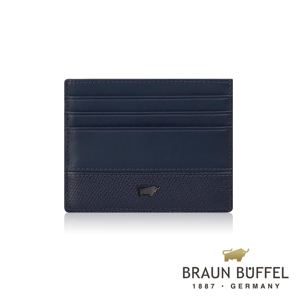 【BRAUN BUFFEL】德國小金牛 邦尼系列7卡單層卡夾(深海藍)BF322-408-OC