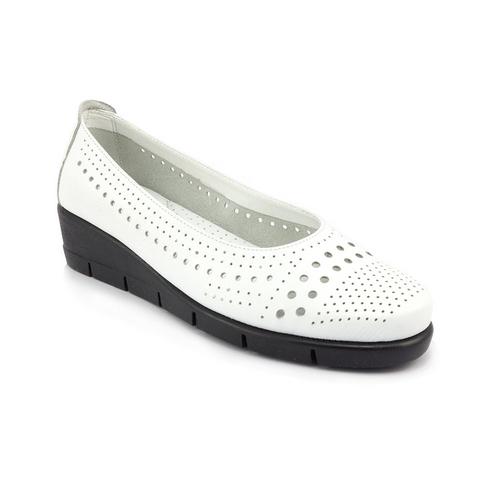 The FLEXX - PARANOIA/SARATOGA  白色 鏤空鞋面 牛皮 楔型鞋(B235_37_391000)