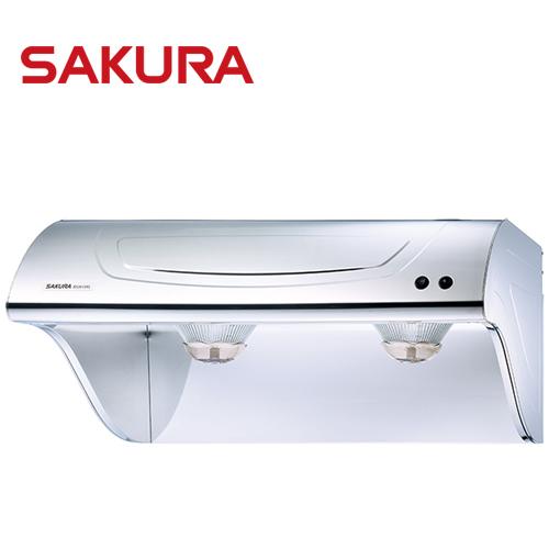 【促銷】櫻花SAKURA 80CM斜背式高速雙渦輪除油煙機 R-3261SL/R3261SL 送安裝
