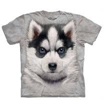 『摩達客』(預購)美國進口【The Mountain】自然純棉系列 小哈士奇犬 T恤