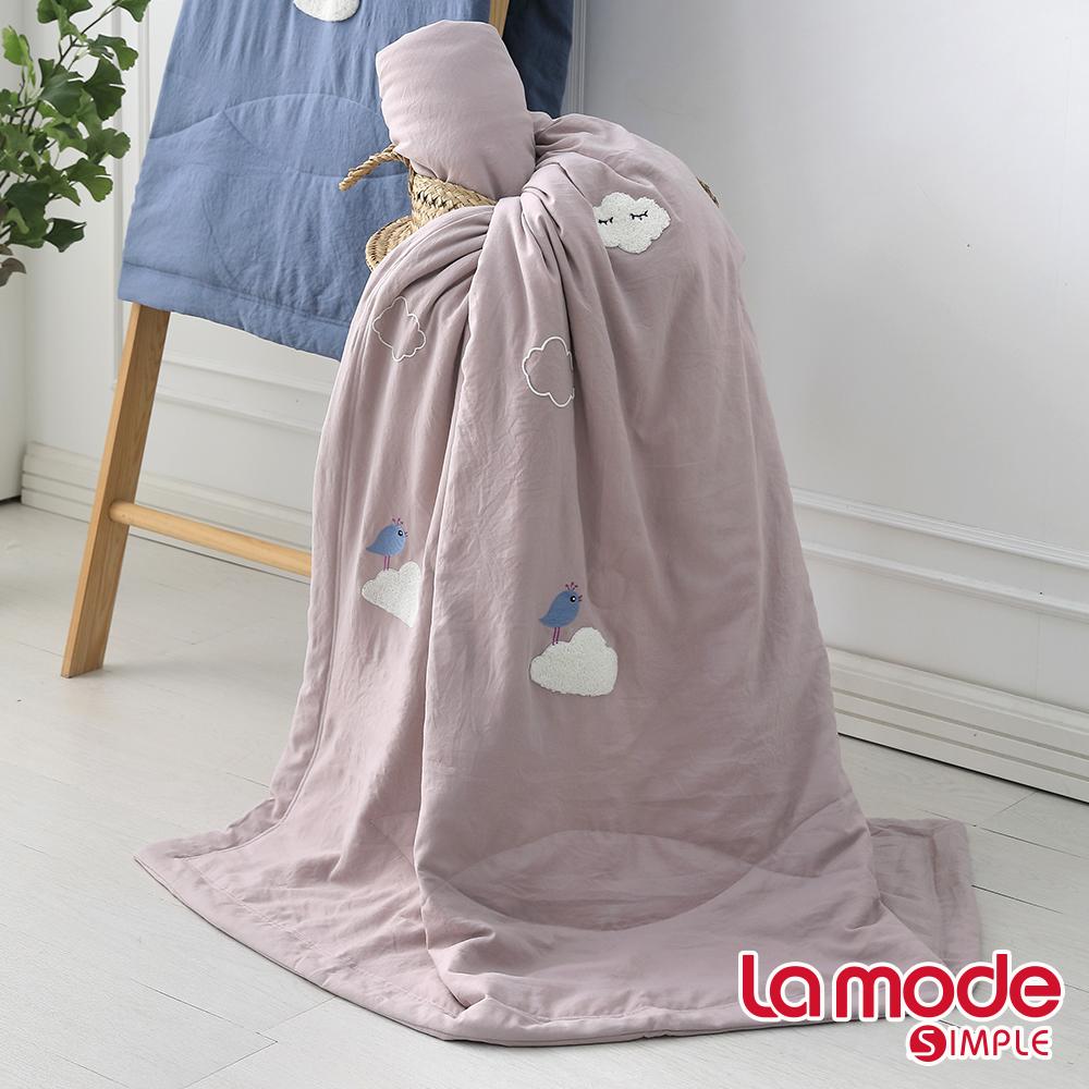 La Mode寢飾 森呼吸輕感綿單人涼被(藕粉色)