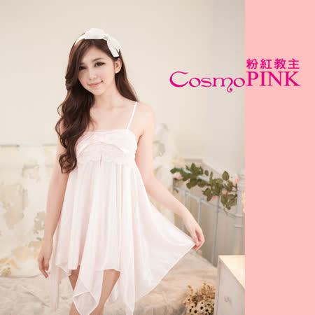 粉紅教主 性感冰絲睡裙