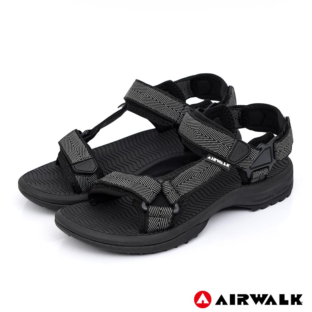 AIRWALK - Y字兩用休閒涼鞋-黑色(男)