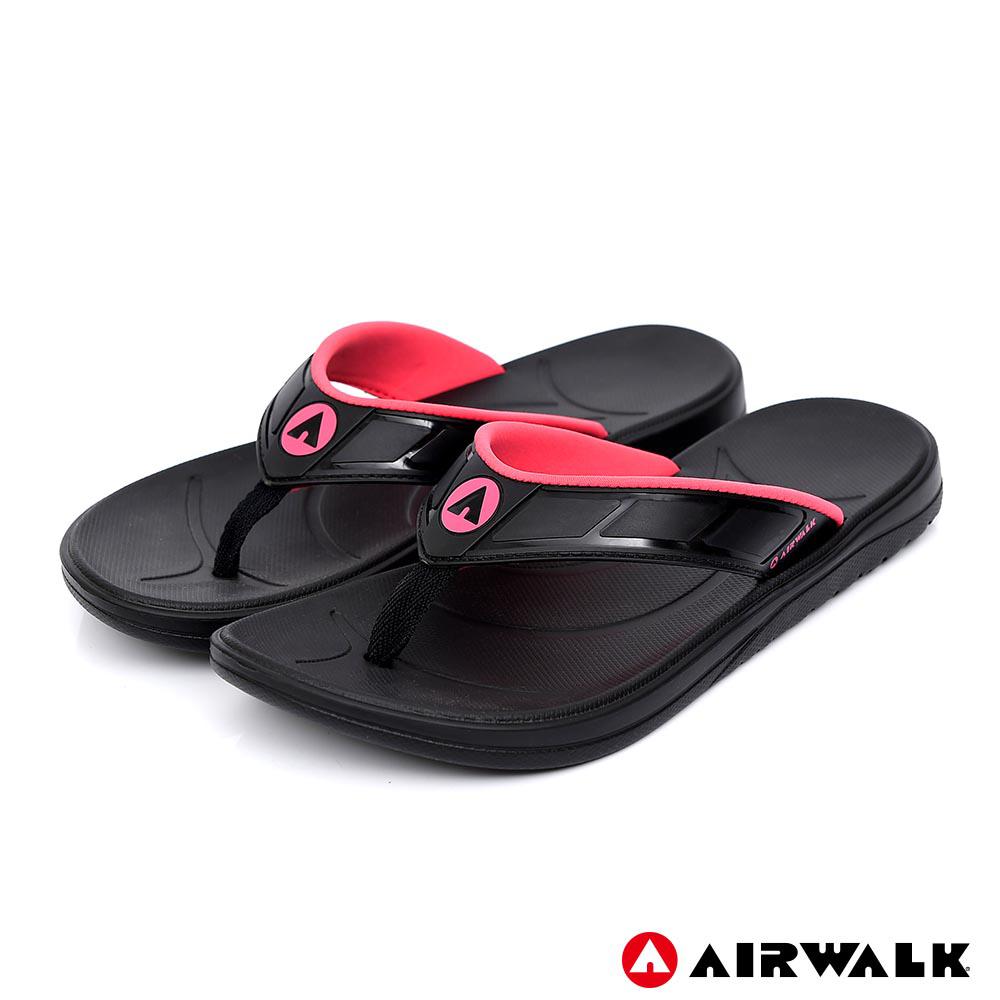 AIRWALK - A0夾腳拖鞋-女款-黑色
