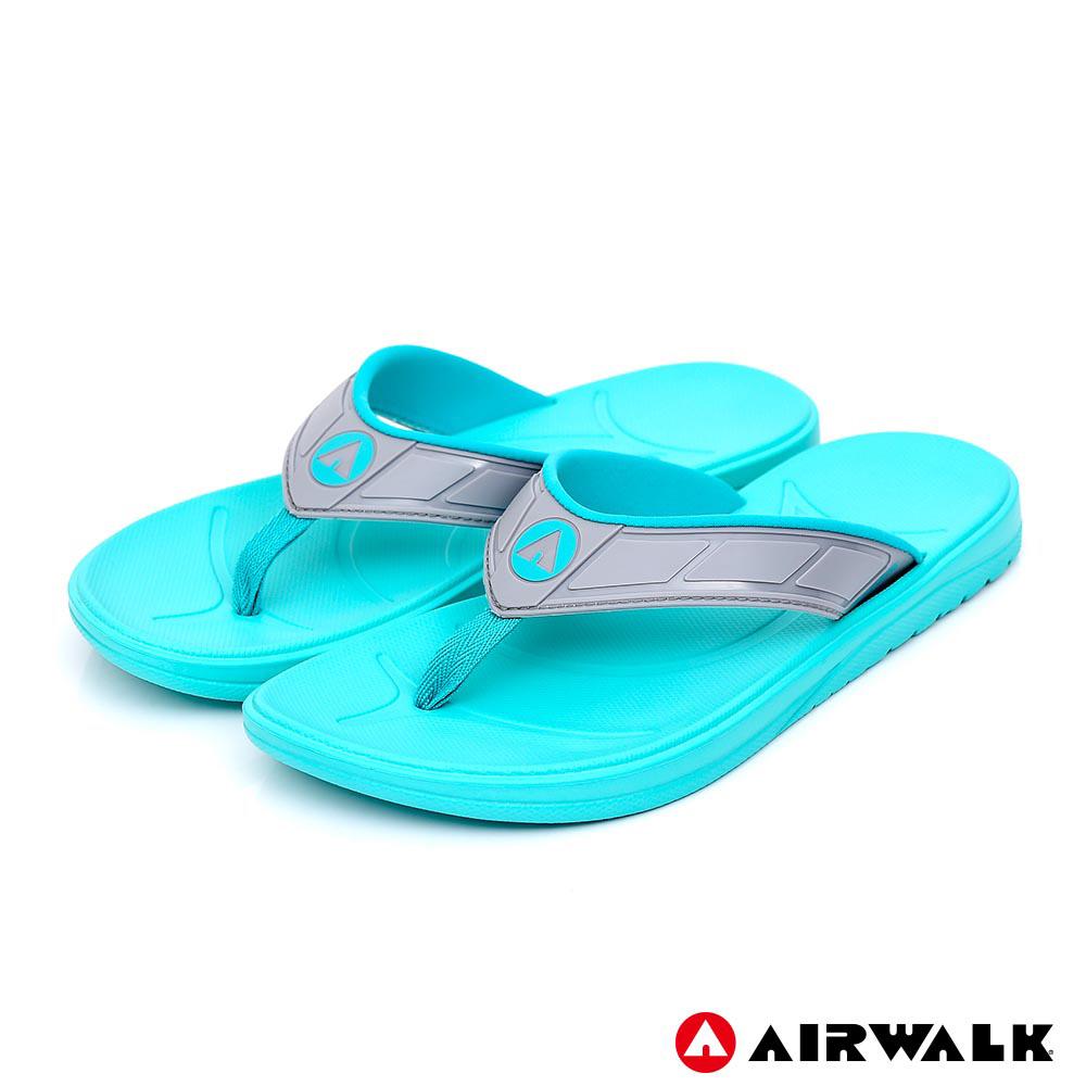 AIRWALK - A0夾腳拖鞋-女款-湖水藍