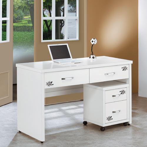 AS-艾麗卡紫羅蘭4.2尺書桌-126x60x81cm