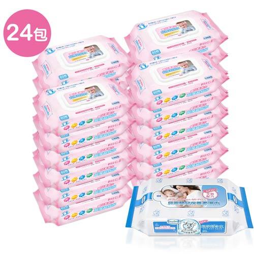 貝比Q EDI超厚超純水柔濕巾量販特價組(箱)(無香料)+貝恩Baan NEW嬰兒保養柔濕巾/20抽