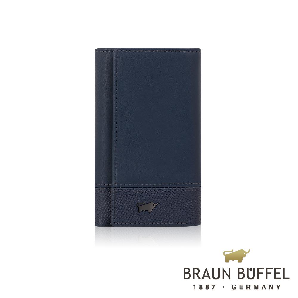 【BRAUN BUFFEL】德國小金牛 邦尼系列鎖圈鑰匙包(深海藍)BF322-105-OC