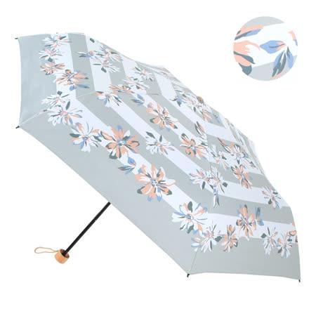 【2mm】100%遮光 百合花朵黑膠輕量手開傘 (灰色)