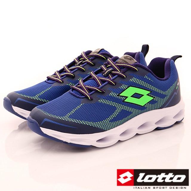 Lotto義大利運動鞋-風動緩震跑鞋-MR6636藍-25.5-29cm