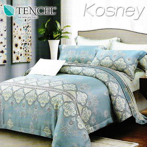 《KOSNEY 賽納風情》 頂級100%天絲雙人涼被床包組