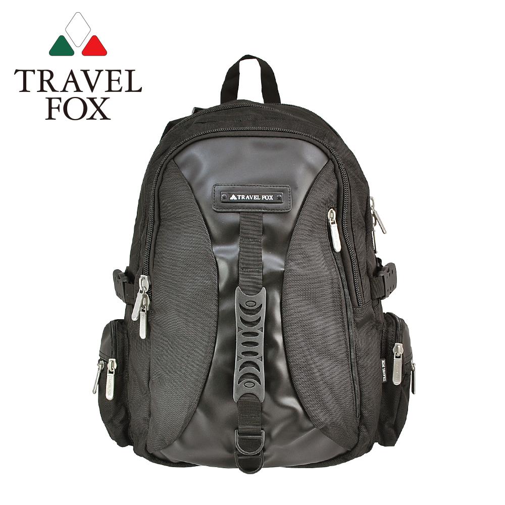 (快速到貨)【TRAVEL FOX 旅狐】多功能旅行大容量電腦後背包 (TB507-01) 黑色
